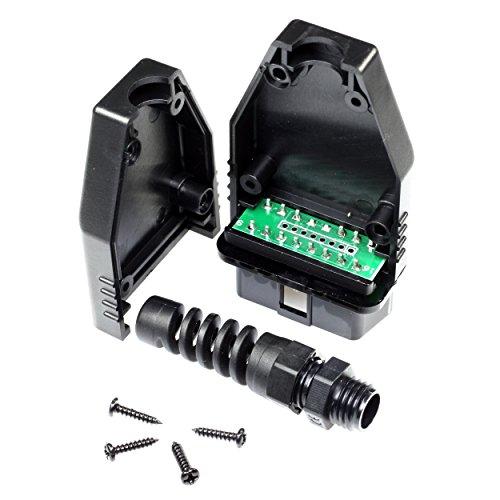 Paradisetronic.com OBD2 Stecker, Gehäuse mit Platine/PCB, OBD II, Diagnosestecker zur Herstellung eigener Kabel fürs Kfz