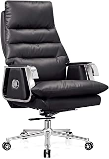 Chair Ergonomic Boss Chair Office Chair, Home Study Computer Chair, Leather Company Chair Office Furniture (Color : A)