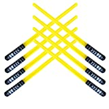 megasumer Pack of 8 Inflatable Light Saber Sword Toys - 8 Yellow Lightsabers - Great for Star Wars Parties and Favors, LARP, Halloween Costume, give Away, Christmas Stocking Stuffer