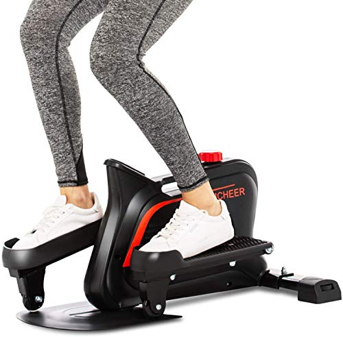 ANCHEER Pedal Trainer Macchina Ellittica Portatile Cyclette Mini Bike, Ottimo Dispositivo Allenamento Esercizio in Ufficio, la Vita di Tutti i Giorni EA Casa Display a LED (Nero)