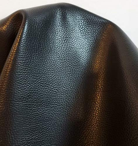 NAT Leathers Black Pebblegrain Soft Faux Vegan Leather PU Peta Approved Vegan 1 Yard 36 inch product image