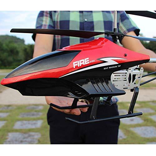 Moerc Aviones de Control Remoto Grande 3.5ch Carga eléctrica Avión Resistente a la caída Drone con Sistema de estabilización LED Niños Juguetes al Aire Libre Helicóptero Adulto Padre-niño niño