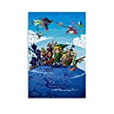 Zelda Wind Waker Poster Decorative Painting Canvas Wall Art Living Room Posters Bedroom Painting 12x18inch(30x45cm)