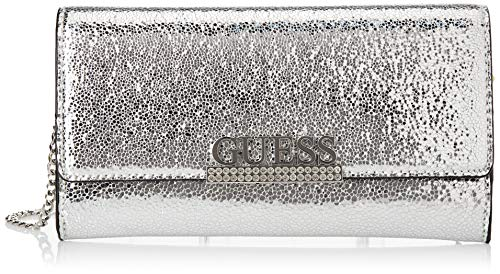 Guess Dinner Date Clutch, Bags Donna, Silver, One Size