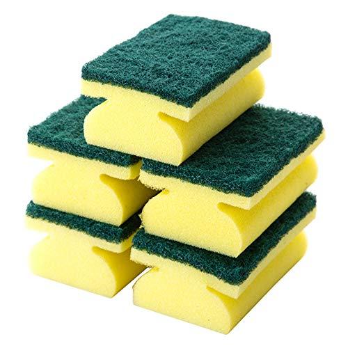 10Pcs Duty Scrub Sponge Cellulose Cleaning Sponges Super Durable, Reusable & Biodegradable