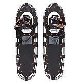 Keenso Raquetas de Nieve de 30 Pulgadas, Marco de Aluminio Ligero Antideslizante Zapatos de Nieve de 30 Pulgadas Zapatos de Senderismo en la Nieve con Hebilla de cinturón de liberación rápida