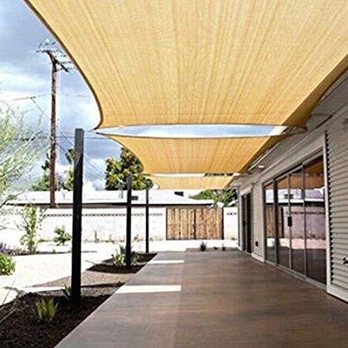 LIUNA Parasol 90% tela de sombra para sol, ojales de borde sellados, malla de bloqueo, toldo para pérgola (tamaño: 1 x 2 m, color: color arena)