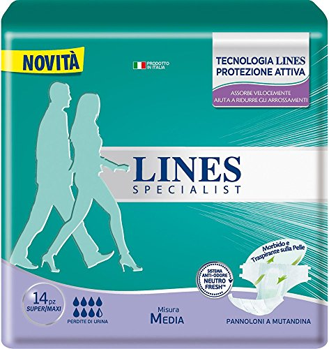 Lines Specialist Pannolone a Mutandina Media, 14 Pezzi