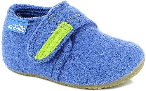 Living Kitzbuhel Baby Jungen Babyklettschuh Krabbel- & Hausschuhe, Blau (victoria blue 558), 19 EU