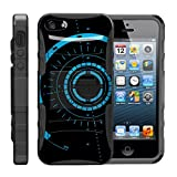 TurtleArmor   Compatible with Apple iPhone SE Case   iPhone 5/5s Case [Hyper Shock] Armor Solid Kickstand Impact Silicone Holster Clip Sports Video Games - Blue Tron Target