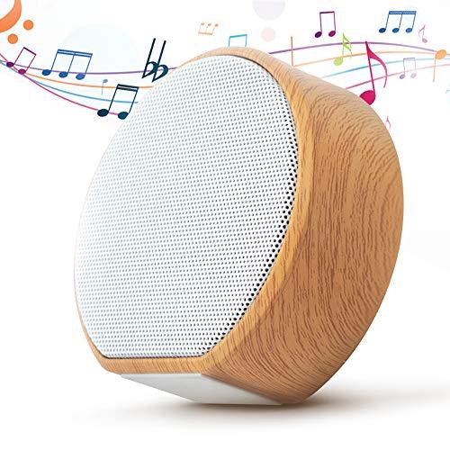 Ohiyoo Mini Bluetooth Lautsprecher, A6 Wireless Lautsprecher, AUX/TF/USB, FM Radio, Tragbarer 360° Stereo Lautsprecher Sound, Satter Bass, 12 Std.-Spielzeit, für Heim/Outdoor, Dusche, Party, Urlaub.