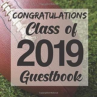 Congratulations Class of 2019 Guestbook: Football Sports Jock Graduation Party Guest Sign In Book Registry Graduate Parties Supplies Senior Keepsake ... Address University College High School
