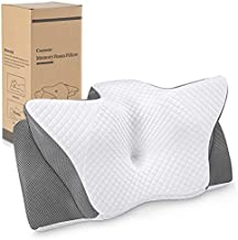 Memory Foam Cervical Pillow, Ansontop Neck Pillow for Pain Relief Sleeping Orthopedic Ergonomic for Shoulder Pain Relief Snoring with Washable Cover Pillow for Side, Back, Stomach Sleeper(Grey)