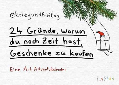 24 Gründe, warum du noch Zeit hast, Geschenke zu kaufen: @kriegundfreitag Adventskalender