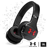 Under Armour Sport Wireless Train–Engineered by JBL - On Ear bluetooth headphones with microphone made for sport. Wireless headset with IPX4 sweatproof, works with Android and Apple iOS. (Black/Gray) (JBL - Under Armour Train - Black)