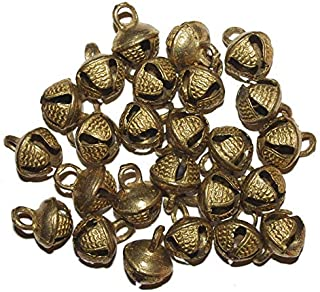eSplanade 100 Pcs Indian Brass Anklets/Ghungroo Bells Loose Beads Bellydance Music Classes Craft