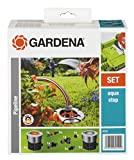 GARDENA Start-Set für Garten-Pipeline: Witterungsbeständige Wassersteckdosen, frostsicher mit Wasserstop, dauerhaft installiert, Starter Set mit zwei...