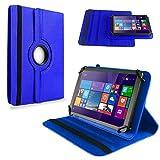 NAUC Tasche für TrekStor SurfTab Wintron 7.0 Hülle Tablet Schutzhülle Cover Hülle 360°, Farben:Blau