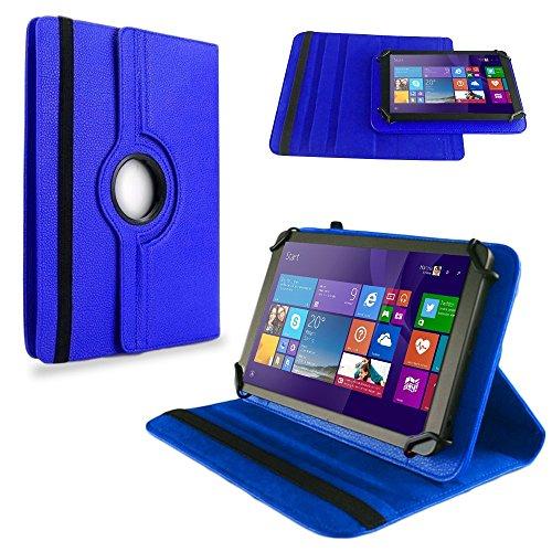 NAUC Tasche Hülle f TrekStor SurfTab Twin 10.1 Tablet Schutzhülle Hülle Schutz Cover, Farben:Blau