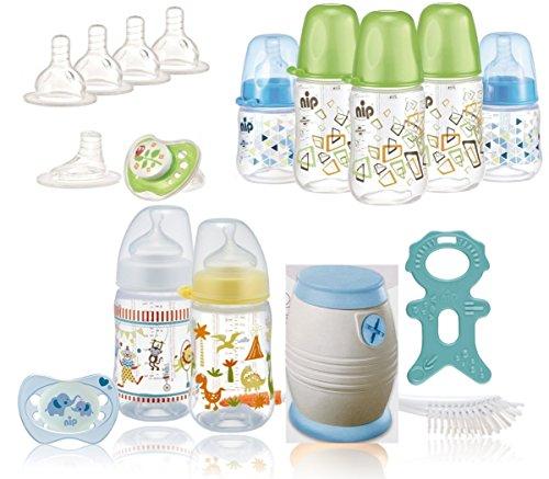 nip Cool Twister - & Flaschenset plus Überraschungsgeschenk, ab 0+ Monate für Jungen