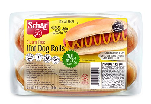 Schar Gluten Free Hot Dog Rolls, 8 Ounce ( Packaging May Vary )