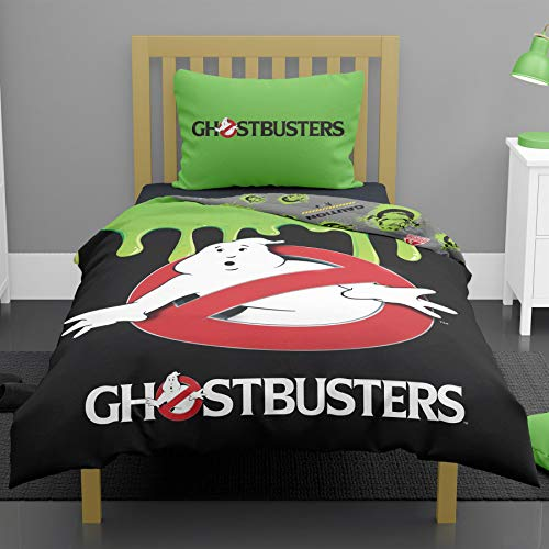 Ghostbusters Glow in the Dark Single/Double Duvet Cover Reversible Bedding Set (Single Duvet Cover)