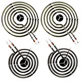 4 Pack MP22YA Electric Range Burner Element Unit Set 4- MP15YA(2) MP21YA(2) for Whirlpool, KitchenAid, Maytag range burner,Replacement part numbers include 540331014,484783, TS5W8221,Y04000033