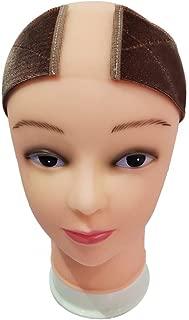 AMAJULIE Flexible Velvet Wig Grip with Lace Part Head Hair Band Wig Band Adjustable Fastern (Dark Brown)