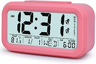ساعة منبه رقمية TXL طاولة عرض ليلية منبه / تقويم، سنوز/ خلفية، سطح سرير يعمل بالبطارية / ساعة رف للأطفال / المراهقين / الم...