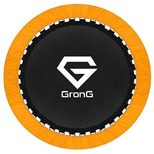 GronG(グロング) トランポリン 家庭用 子供用 大人用 静音設計 耐荷重100kg 直径100cm オレンジ