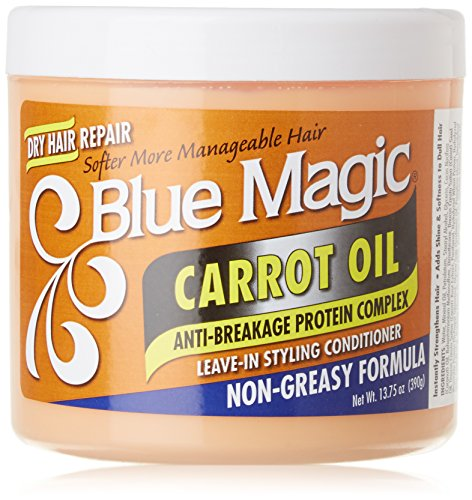 Blue Magic Carrot Oil Leave In Styling Conditioner, 13.75 Ounce