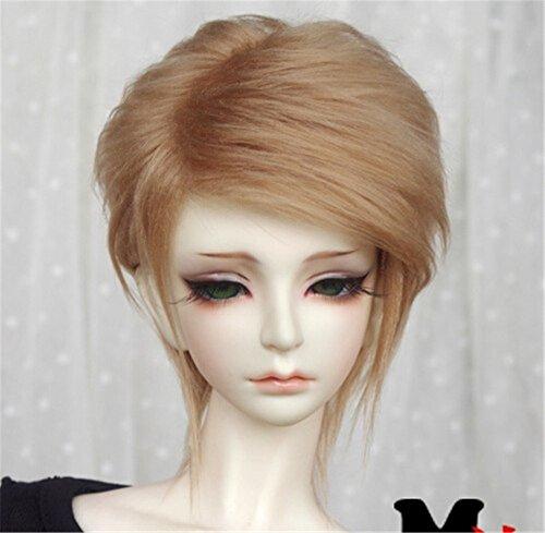 Tita-Doremi Ball-jointed Doll BJD Perücke Puppen Haarteil Für 1/6 6-7 inch Dollfie SD YOSD BB AOD DOD Doll Brown Wig Hair 1/6 6-7 inch 15-17cm (Perücke Nur,Keine Puppe )