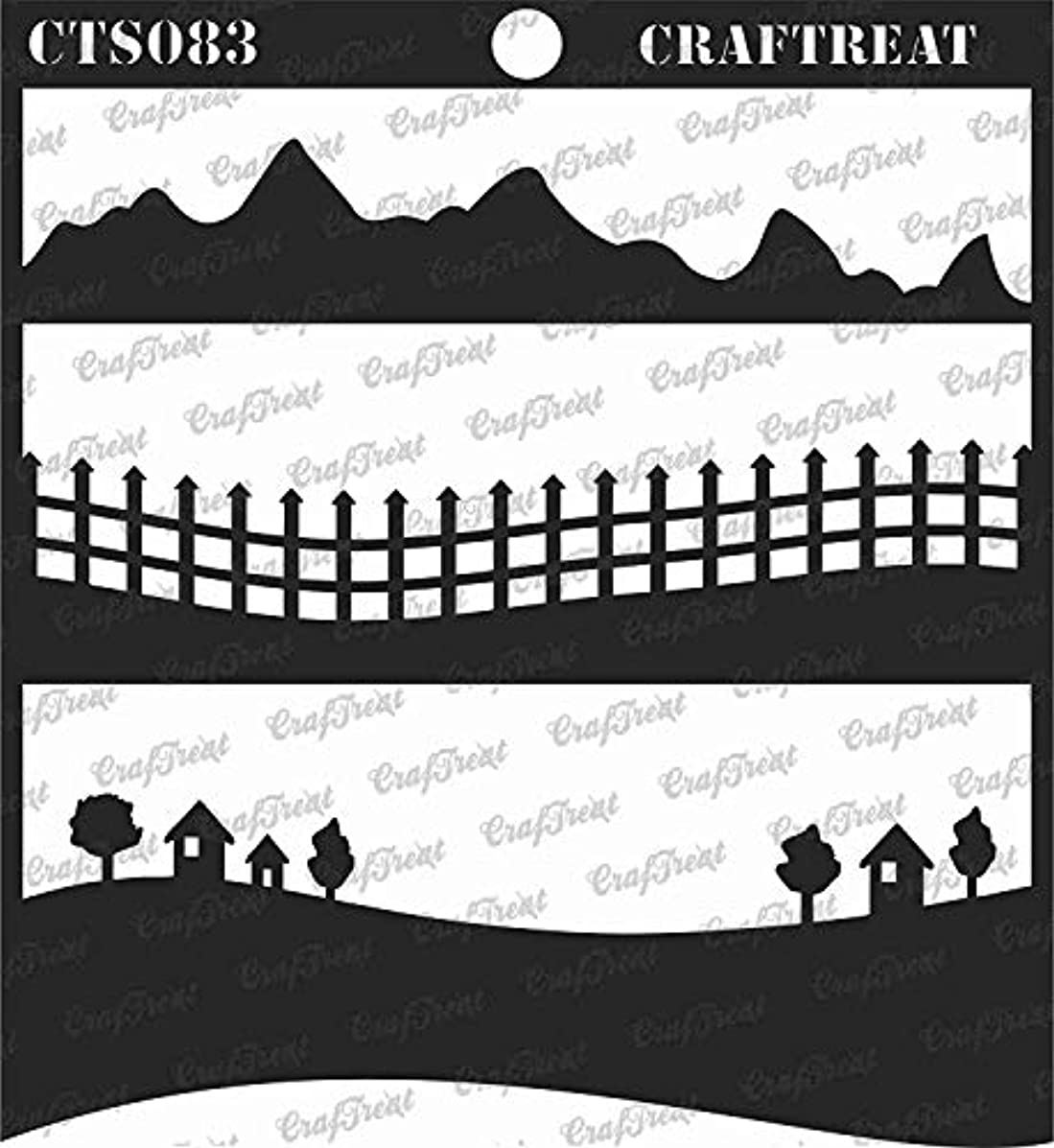 CrafTreat Stencil - Landscapes   Reusable Painting Template for Journal, Notebook, Home Decor, Crafting, DIY Albums, Scrapbook and Printing on Paper, Floor, Wall, Tile, Fabric, Wood 6