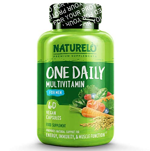 NATURELO One Daily Multivitamin for Men - with Natural Vitamins & Fruit Extracts - Best for Maintaining Essential Nutrient Levels - 60 Capsules | 2 Month Supply US