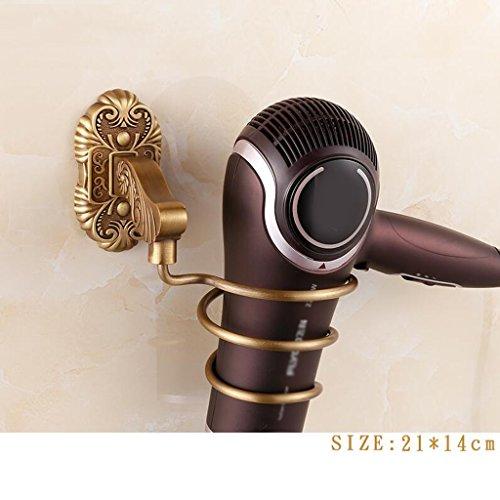 Support rétro de sèche-cheveux de pendentif d'acier inoxydable de matériel de salle de bains de couleur rétro de cuivre Rollsnownow