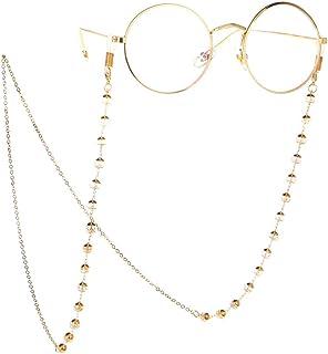 57c507fe27 Chaîne de Lunettes Cordon de retenue de Lunettes de Soleil en Cristal avec  Perles de Cristal