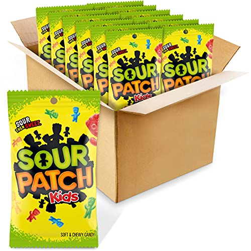 Sour Patch Kids Assorted Candy, 8-Ounce Bags (Pack of 12)