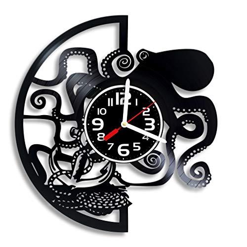 Vinyl Octopus Wall Clock