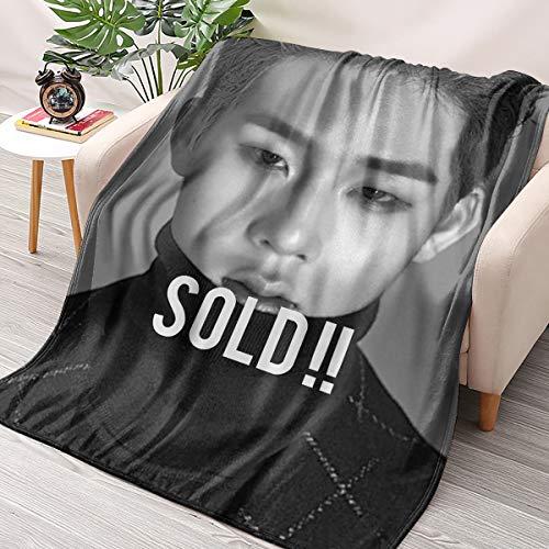 HAIZIVS Kpop BTS Jin Flanell Wirft Decken Couch Sofa Fuzzy-Decken for Reisen Fliegen Camping Nach Hause (70