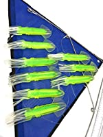 Capt Jay Fishing trolling Lure Teaser (Green Squid, 26 inch)