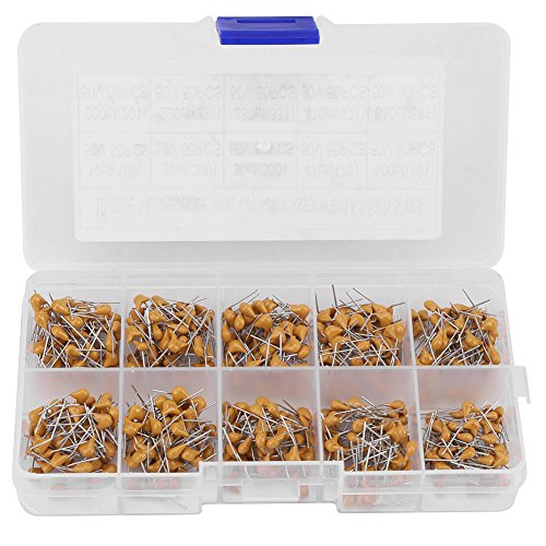 10 Values 50V 10PF-680PF Monolithic Ceramic Capacitor Assorted Kit Transparent Box Industrial Electrical Passive Components 500Pcs