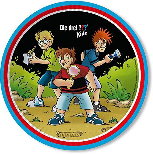 DH-Konzept Teller DREI ??? Kids // 8 Detektiv-Teller DREI Fragezeichen Kids