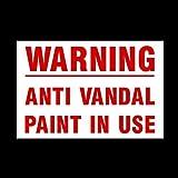 Pegatinas autoadhesivas de advertencia de pintura antivandal en uso, etiquetas de advertencia de vinilo, seguridad, cámara, circuito cerrado TV, advertencia de seguridad (Misc49)