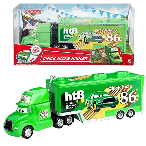 Disney Pixar Cars Chick Hicks HTB Hauler Transporter 1:55