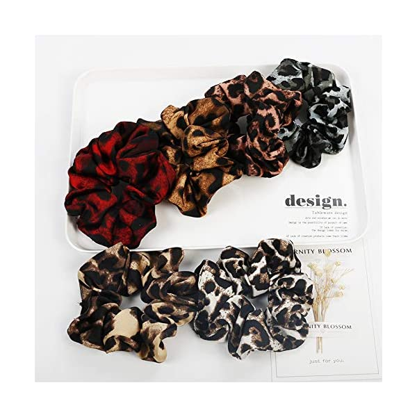 16 Pack Leopard Hair Scrunchies Scrunchies Elastic Rubber Band Hair Rope Bobbles Hair Ties 9