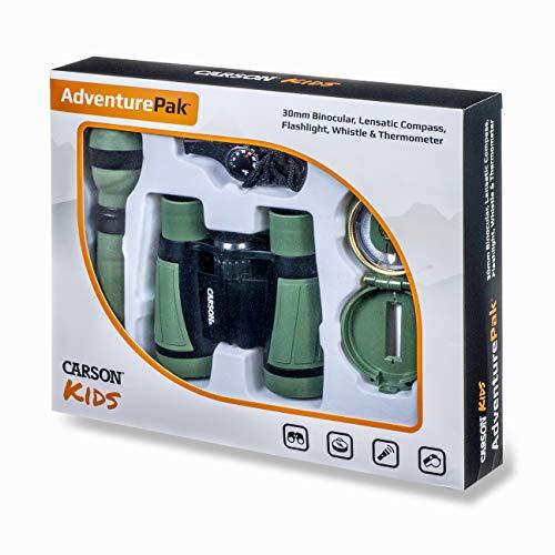 Carson AdventurePak Prismáticos 30mm y Accesorios para Actividades al Aire Libre