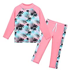 4-way high quality stretch fabrics, lightweight, breathable and quick drying for Kids feeling comfort at the beach, pool, and anywhere Highly chlorine and salt water resistant for years of wear Rated UPF 50+ ... Blocking more than 97% of the sun's ha...