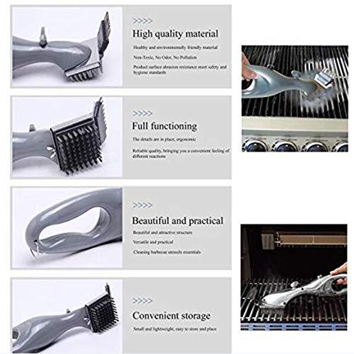 51u+Gq1iAZL - LYN&xxx Grillreiniger mit Dampfkraft, Edelstahl BBQ Grill Bürstenkopf Plastikhandgriff für einfacher und effektiver reinigen, Geschenke für Grill-Assistenten Rost Reiniger 2 Pack