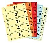 AVERY Zweckform 867-5 Garderobennummern 5 Stück farbig sortiert