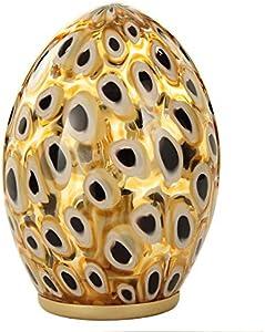 Lámpara de mesa de diseño cristal murano, moderna y brillante tono del ámbar grueso murrina. Autentica con certificado